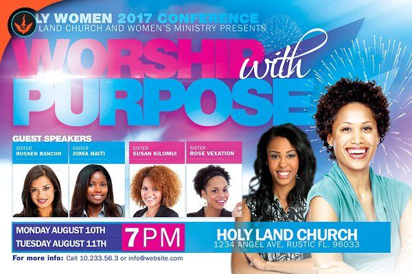 women conference flyer template flyers confident woman