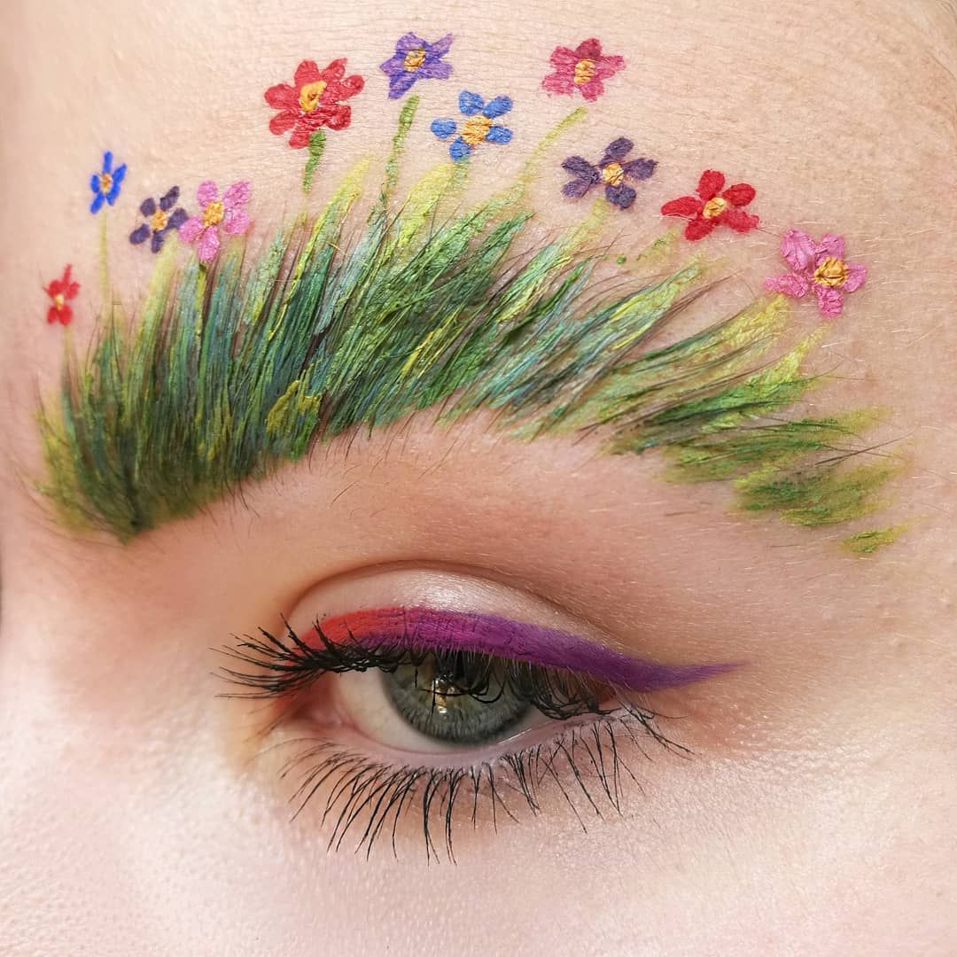 Photo of 10 verrückte Make-up-Ideen.