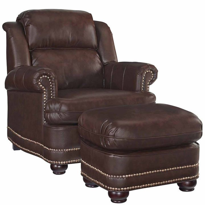 Asstd National Brand Beau Chair Ottoman Faux Leather Roll Arm Chair Leather Chair Faux Leather Chair Rolled Arm Chair