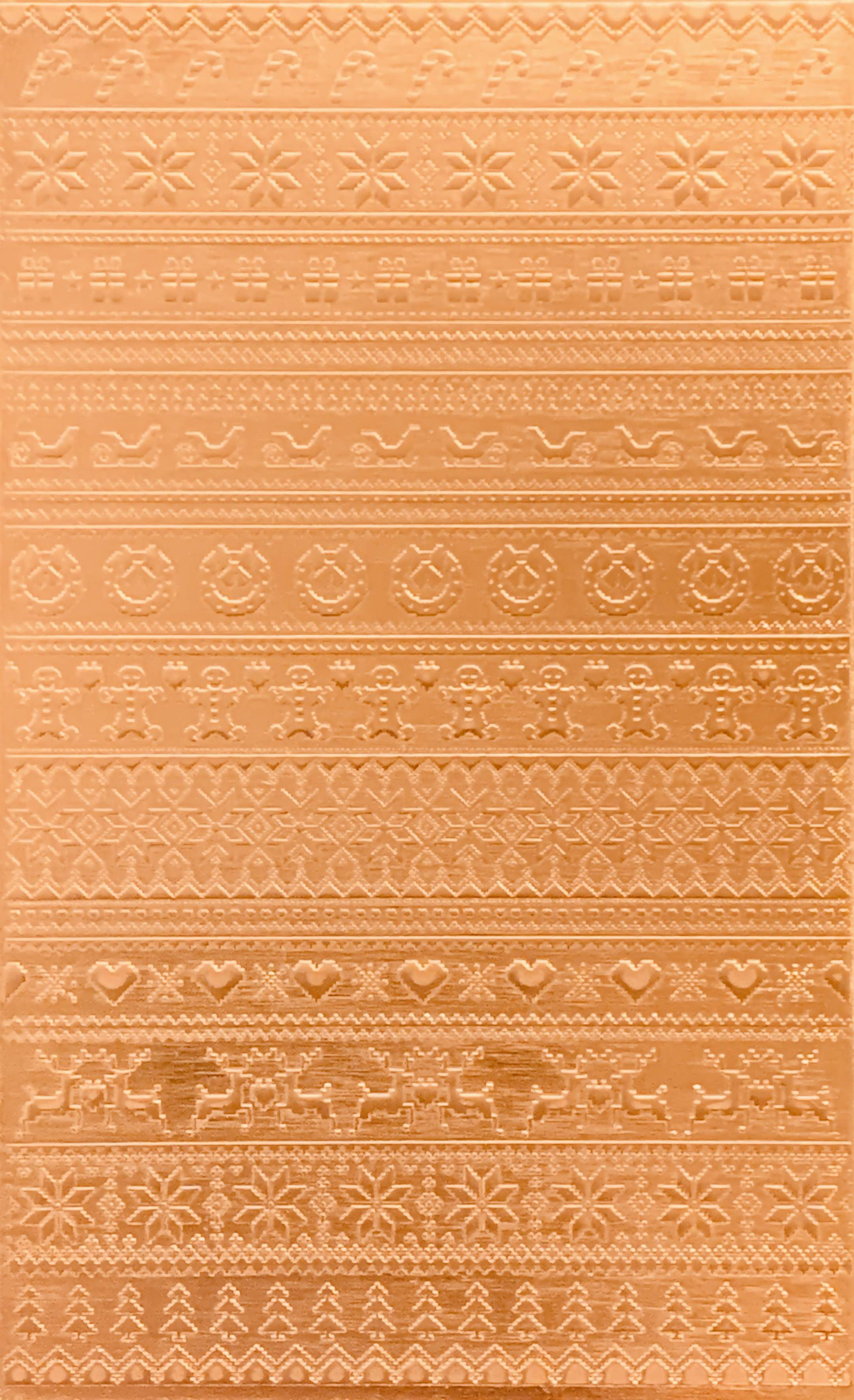 Christmas Sweater Copper Pattern Pressing 2 1 2 X 4 Metal Maven Copper Pattern Copper Sheets