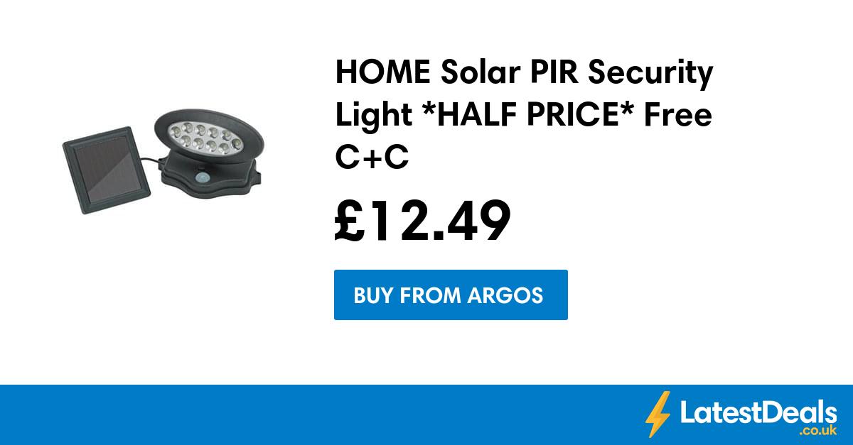 Home solar pir security light half price free cc 1249 at argos home solar pir security light half price free cc 1249 aloadofball Image collections