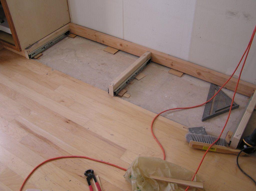 10K Kitchen Remodel: Cabinet Install U0026 Kick Plate Drawers