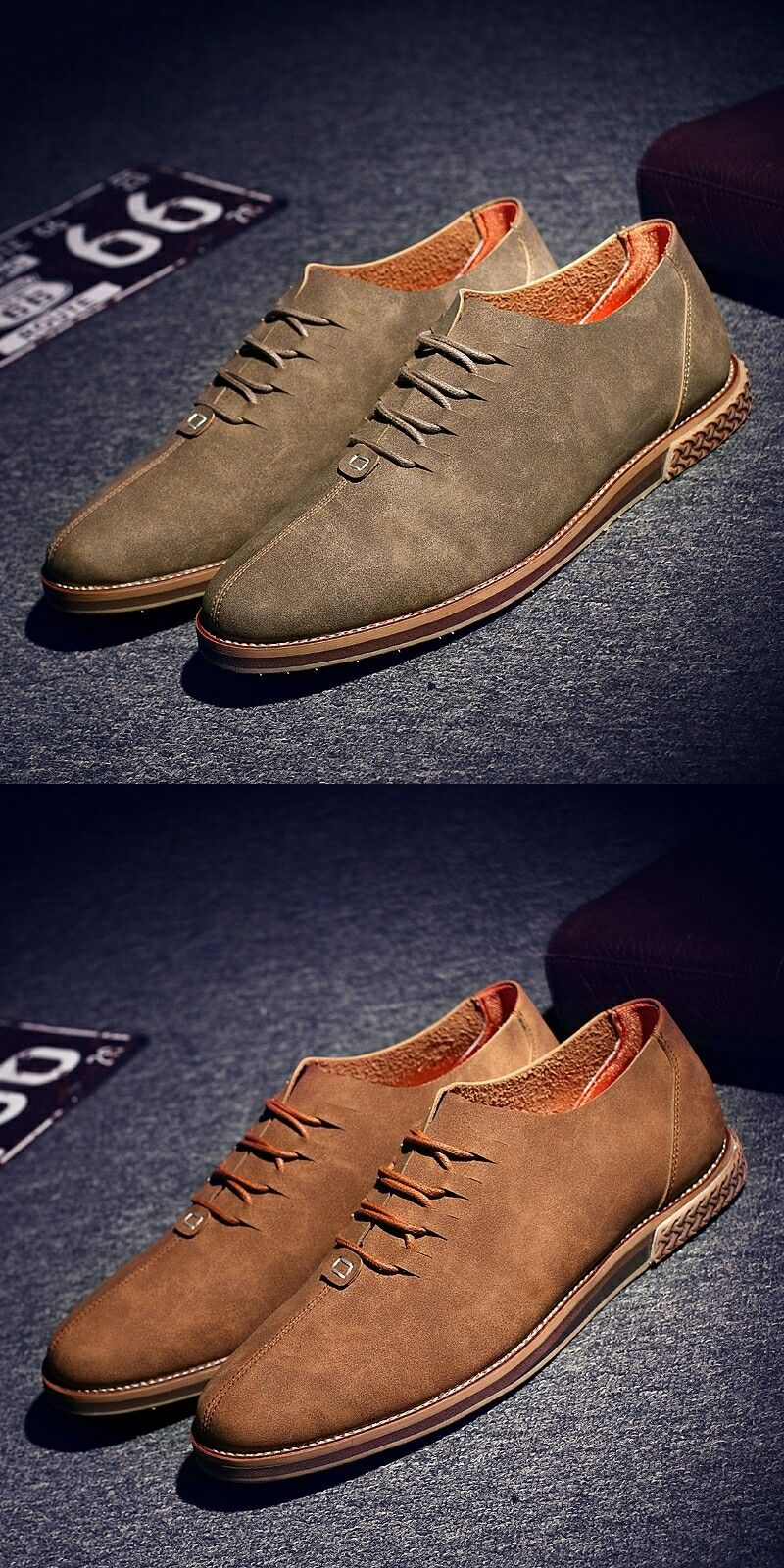 New Arrival Men Casual Shoes Italian Shoes Man Flats Shoes Fashion Suede  Anti Slip Lace-Up Oxford Moccasins Plus Size Shoes 836f5e5141fa