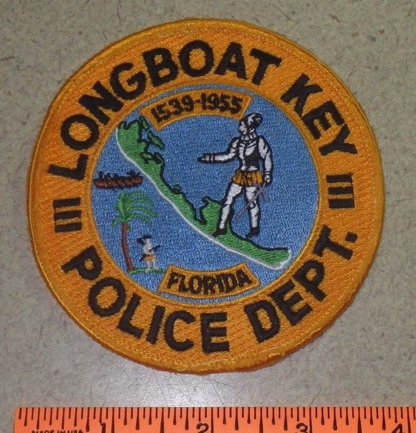 Long Boat Key Florida State Police Patch Police patches