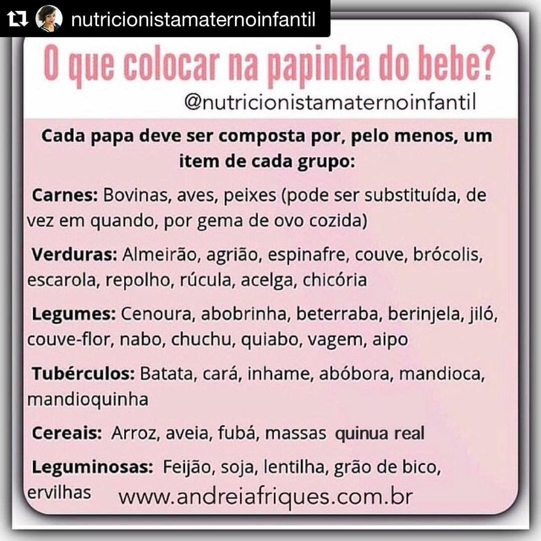 Pin De Barbara Centeio Em Comida Layla Alimentos Para Bebes
