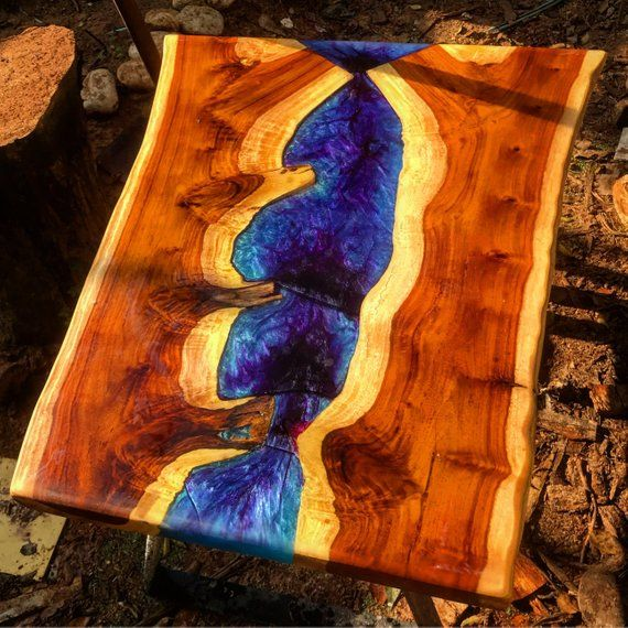 Coffee Tabale Resin Table Epoxy Resin River Table Blue