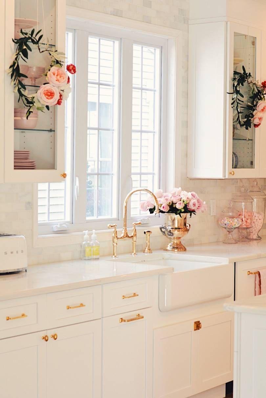 Valentine S Day Decorations Round Up The Pink Dream Home Decor Kitchen Interior Design Kitchen Chic Kitchen
