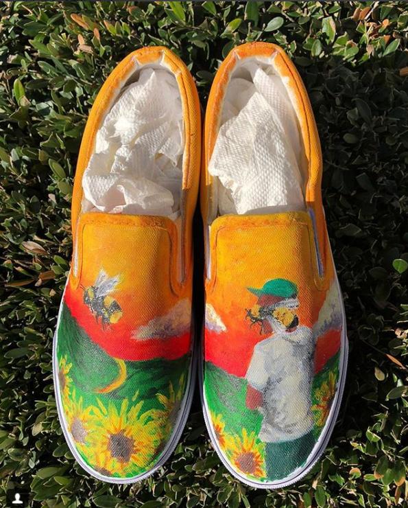 Custom Painted Vans Tyler the Creator: Flower Boy | Etsy