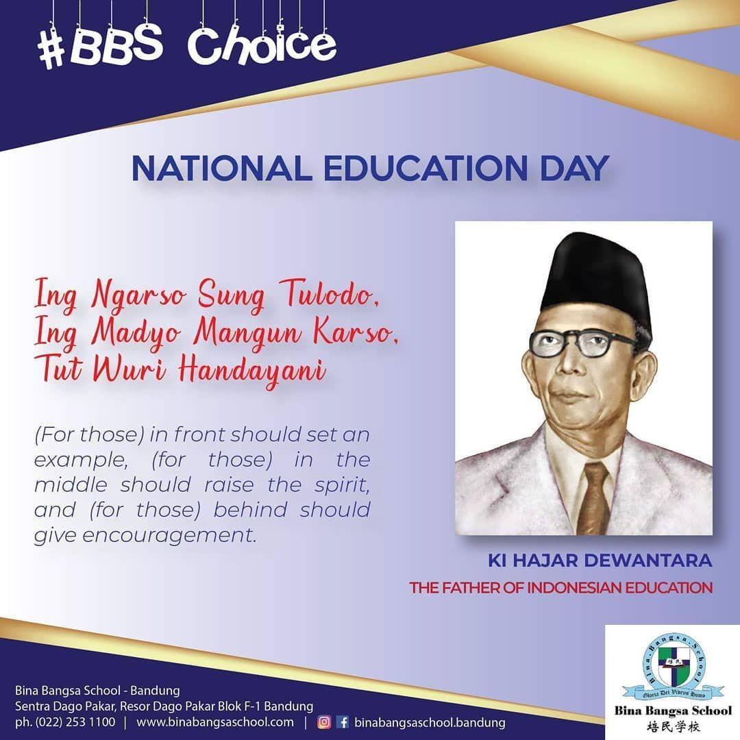 Selamat Hari Pendidikan Nasional Ing Ngarso Sung Tulodo Ing