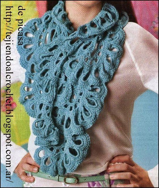 CARAMELO DE CROCHET | Crochet Scarves & Shawls | Pinterest ...