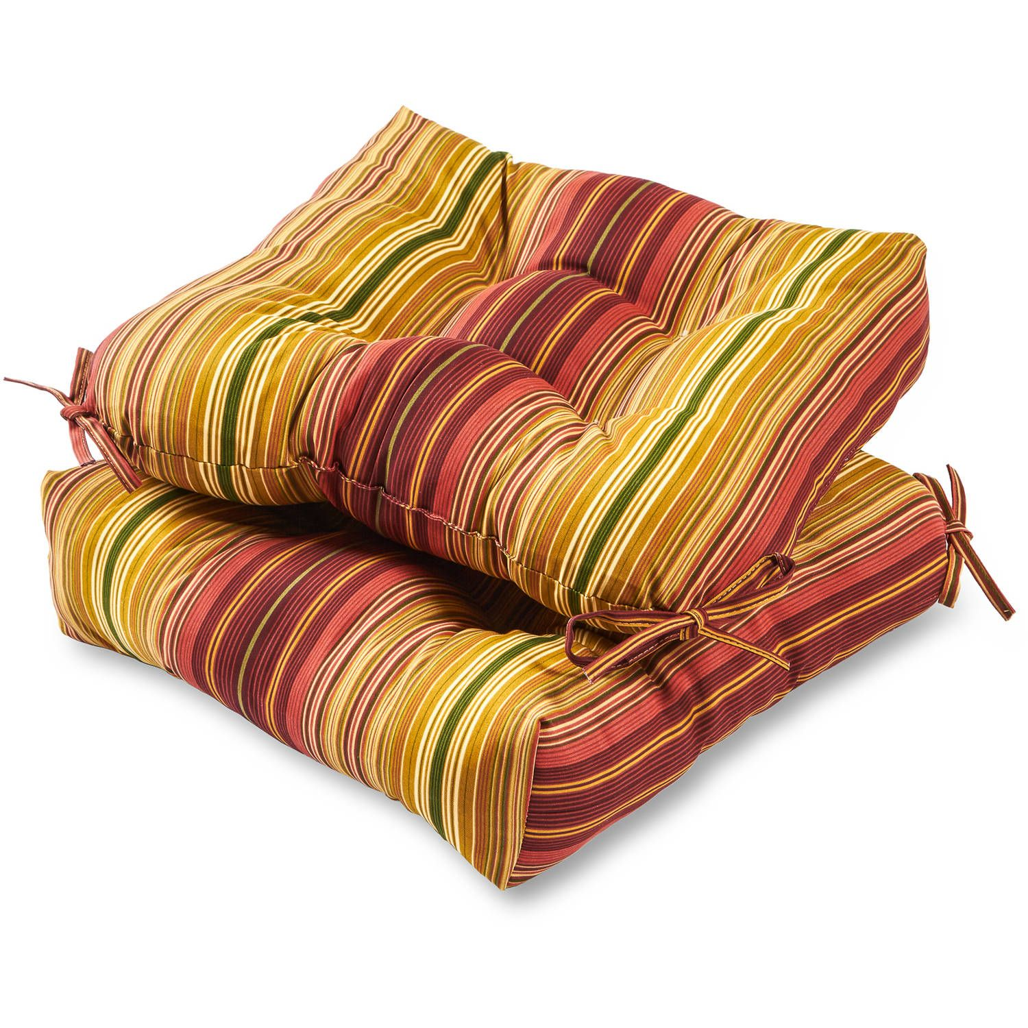 """Greendale Home Fashions 20"""" Outdoor Chair Cushions, Set of"""