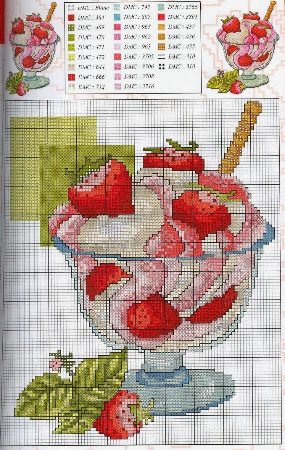 Graficos punto de cruz gratis cocineros 15 tartas for Cocinas punto com