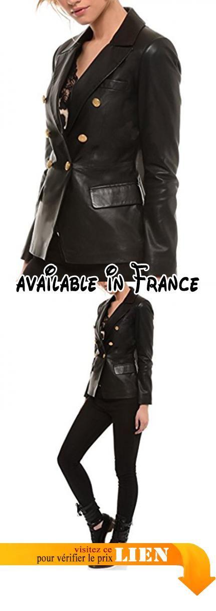 36 Arturo Femme Couleur B073WVGC9M noir Taille cuir Veste 0dwRq