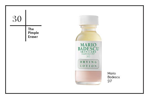 It never seems to fail us that the night before we've got a big event that we want to look amazing for, a giant pimple rears its ugly head. Stop that zit in its track with this drying lotion from Mario Badescu. Stick a Q-Tip into the bi-phase formula (don't shake it!), then dab the mixture on your blemish. When you wake up in the a.m., the redness and swelling will be drastically diminished, if not completely gone.   Mario Badescu Drying Lotion, $17, available at Amazon.
