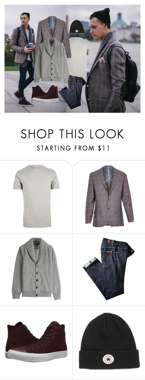 """""""Going to college"""" by harper777 ❤ liked on Polyvore featuring River Island, rag & bone, Converse, Topman, women's clothing, women's fashion, women, female, woman and misses"""