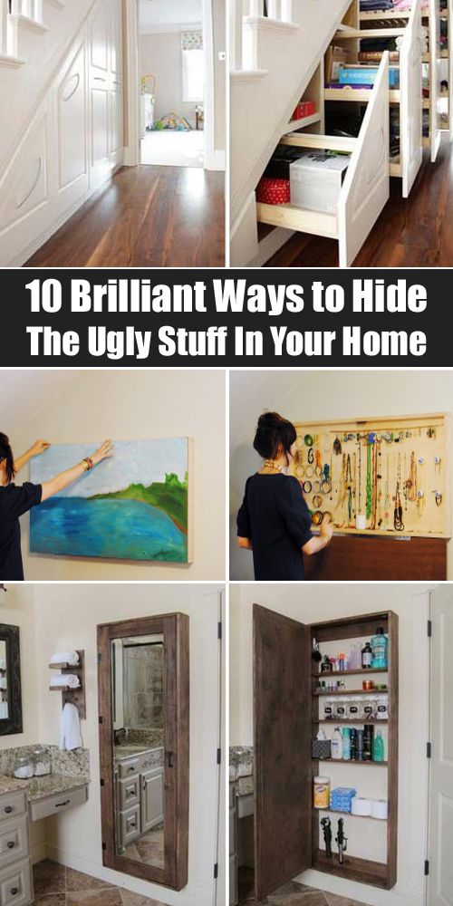 10 Brilliant Ways to Hide The Ugly Stuff In Your Home