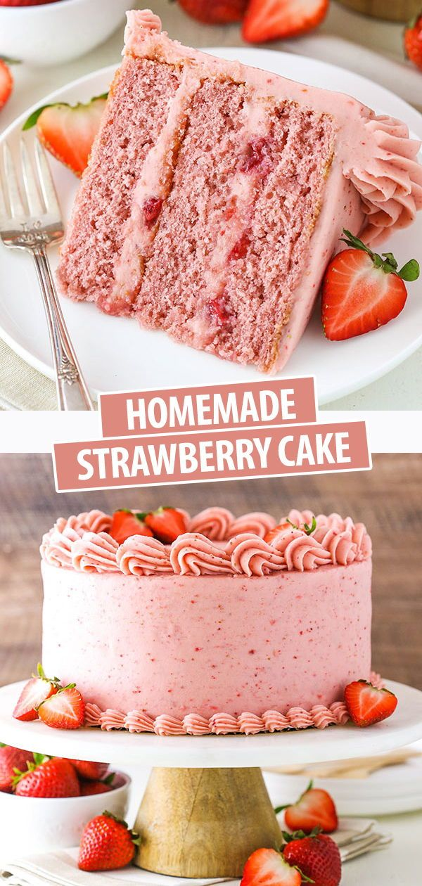 Homemade Strawberry Cake Recipe   Ultimate Strawberry Lovers Cake