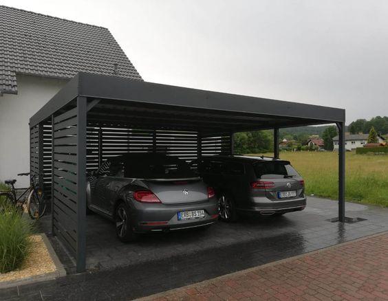 15 Model Garasi Mobil Minimalis Untuk Rumah Kecil Dan Mewah Di 2021 Eksterior Rumah Garasi Rumah