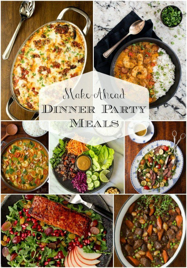 Make-Ahead Dinner Party Meals images