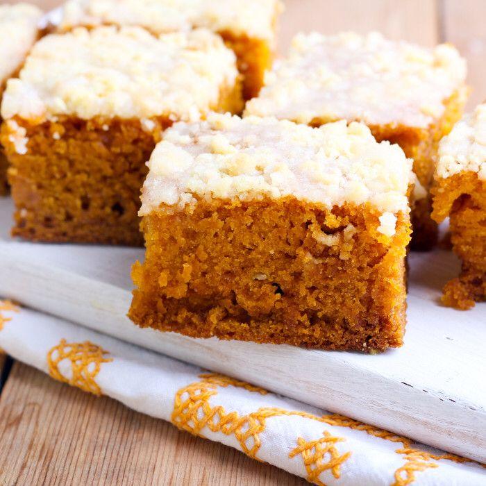 Pumpkin Coffee Cake with Brown Sugar Glaze | Recipe in ...