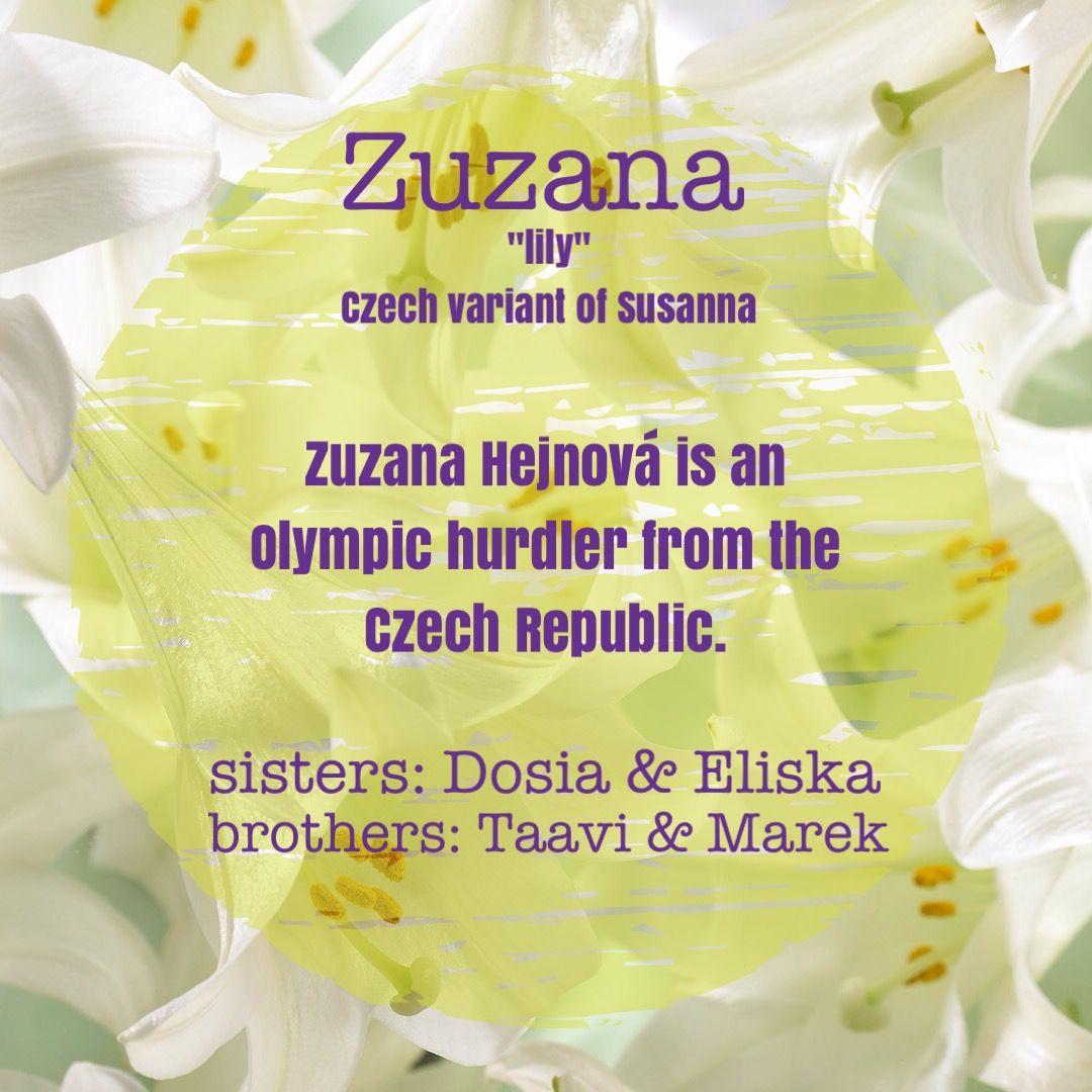 Zuzana susannah girl names   Girl names, Name games, Names