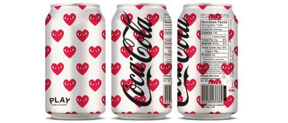 commes des garcon hearts coca-cola