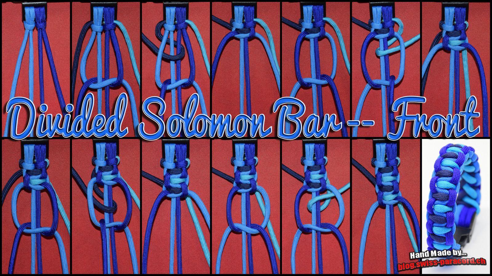 Divided Solomon Bar - Front und Tutorial   DIY- Paracord ...