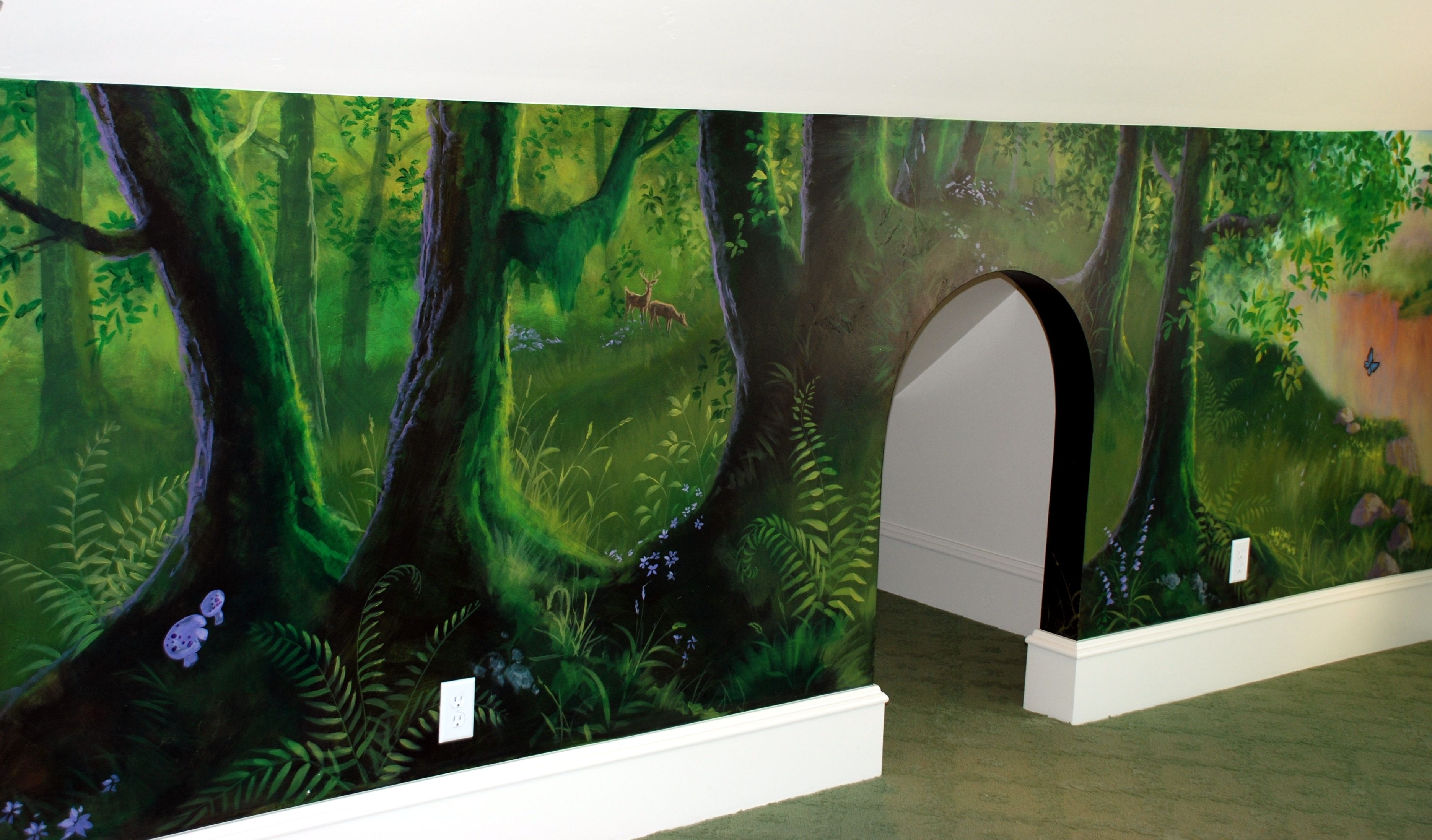 Forest Murals Enchanted Forest Playroom Custom Painted