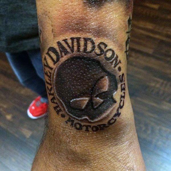 black ink skull harley davidson wrist guys tattoos tattoo 39 s pinterest guy tattoos harley. Black Bedroom Furniture Sets. Home Design Ideas