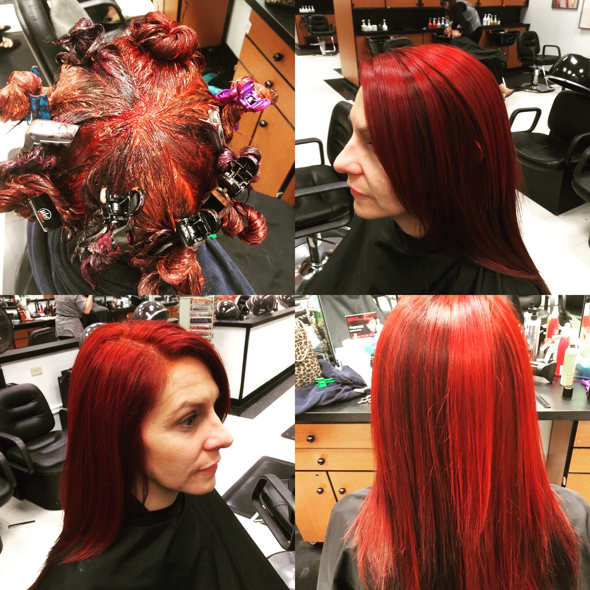 Vibrant Reds Pinwheel Hair Color 3hair And Other Beauty Stuff
