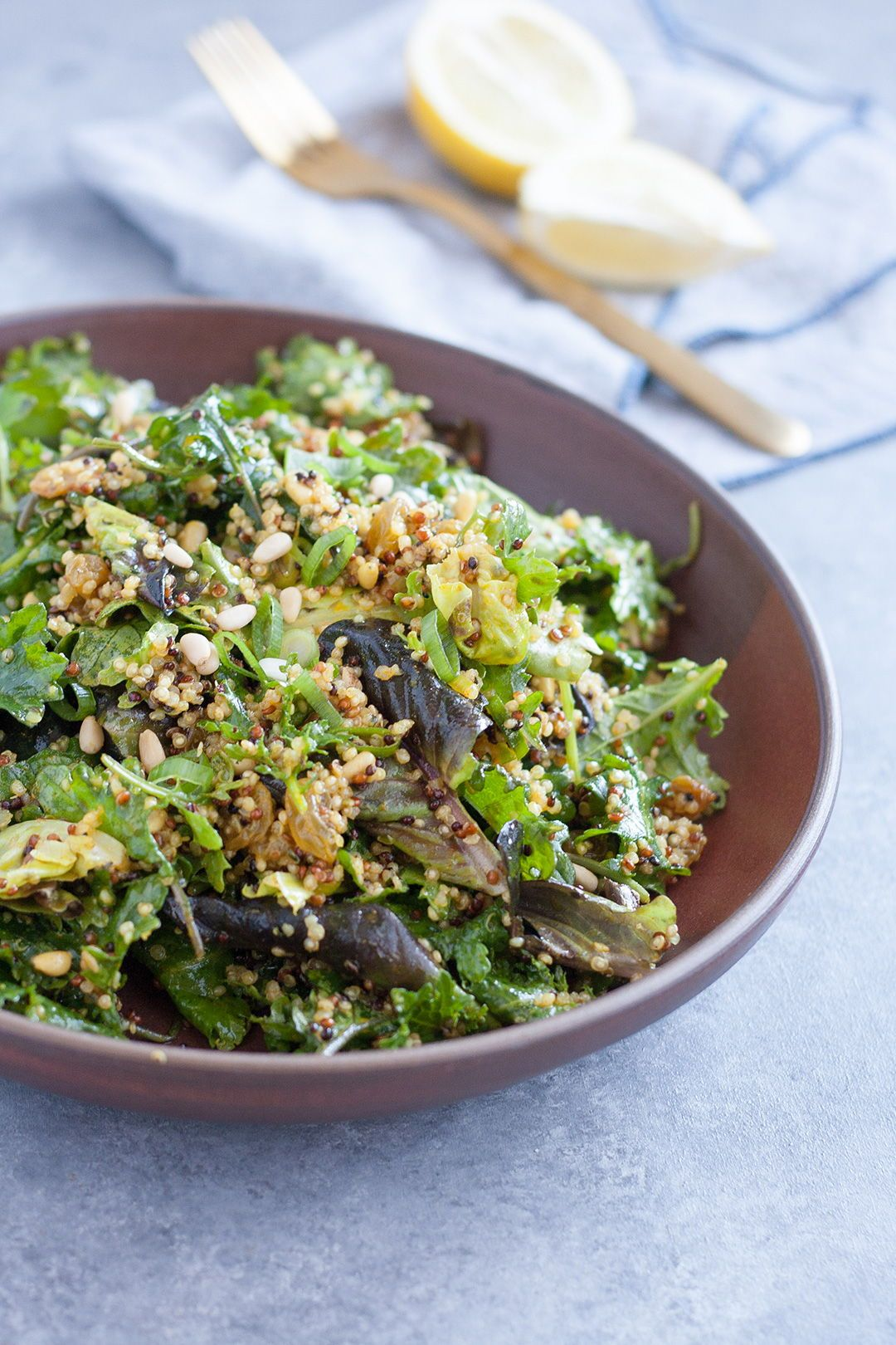 Kale Salad With Golden Turmeric Dressing