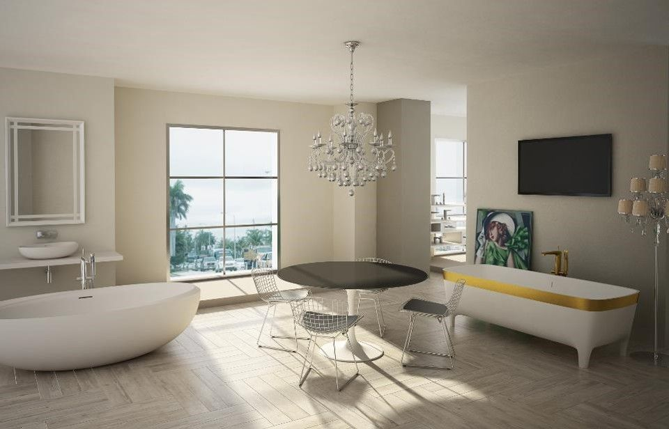 a very sunny teuco #showroom in miami, florida with two of our best