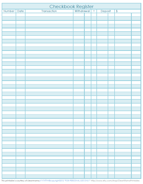 image regarding Printable Checkbook Ledger identified as Absolutely free Checkbook Sign-up Printable. Business