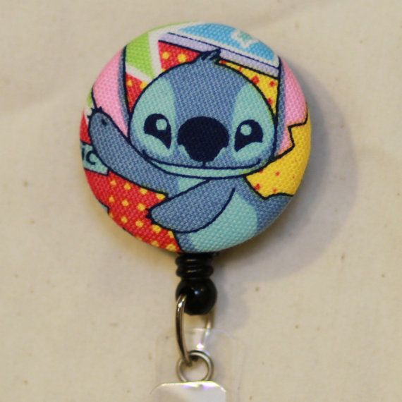 Stitch retractable badge reel, Fabric ID badge reel ...