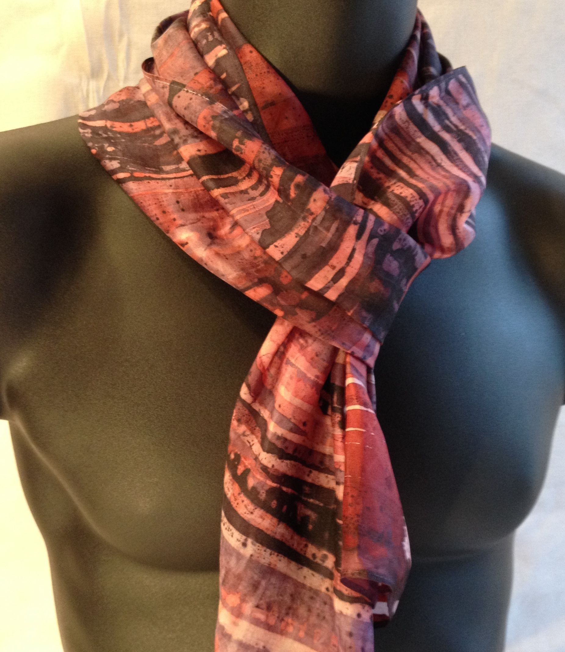 Silk scarves for men at www.thepaintedscarf.com by Ruth Baker