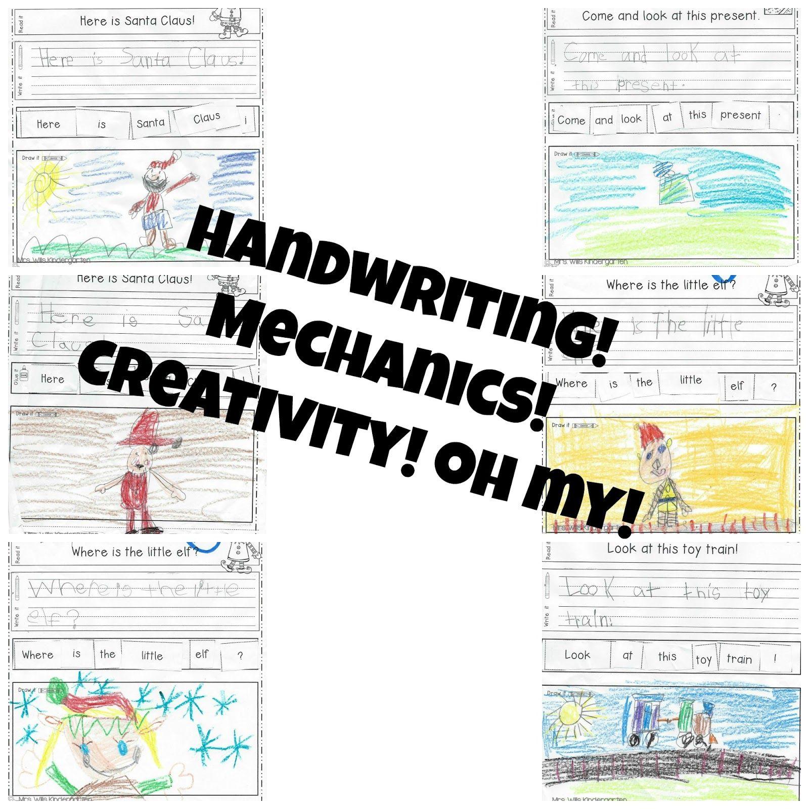 Mrs. Wills Kindergarten: Handwriting! Mechanics! Creativity! Oh My ...