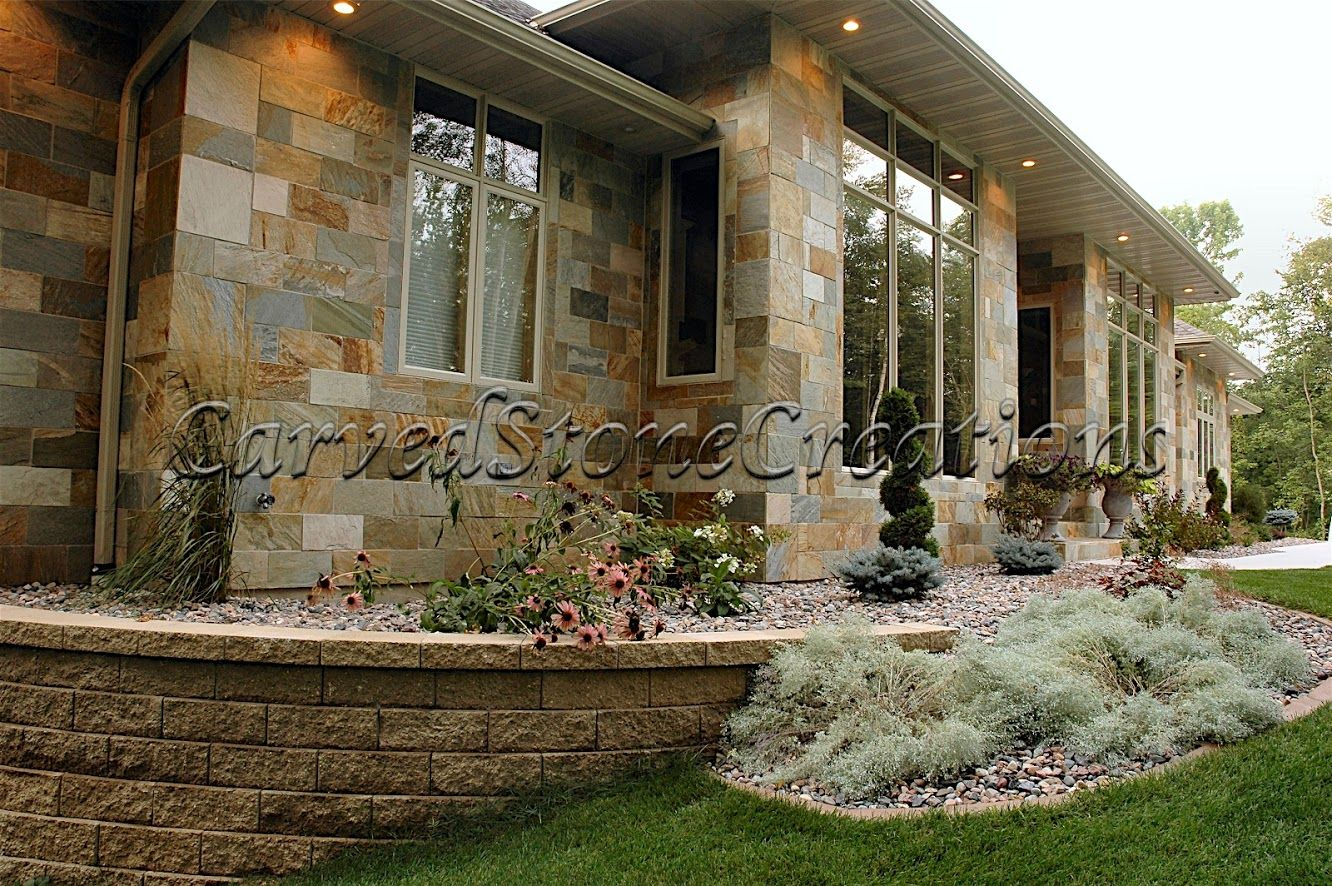 add some thin stone veneer to your home click on the picture for more design - Slate Castle Ideas