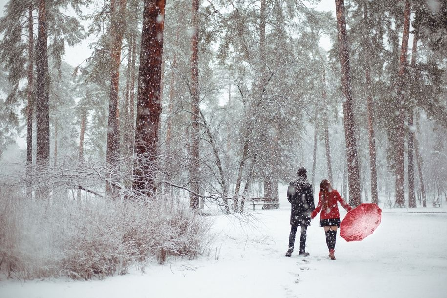 Любовь и зима картинки