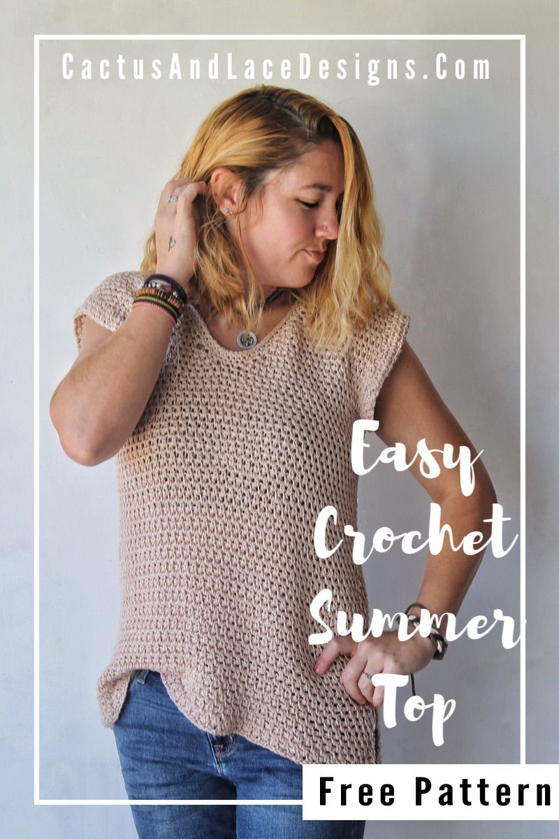 Crochet Summer Top~ Free Pattern Cactus And Lace Designs