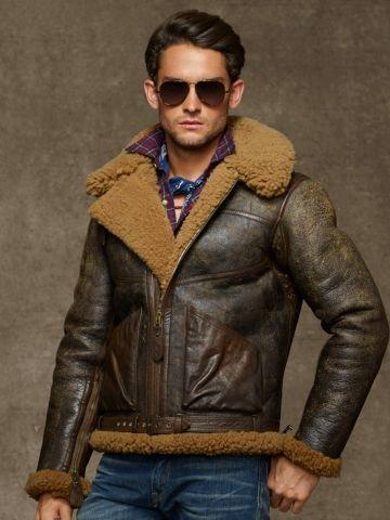 366969b29c95 Dover Shearling Bomber Jacket - Polo Ralph Lauren Leather   Suede -  RalphLauren.com