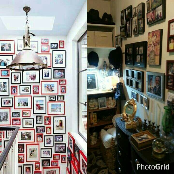 #Architectural Digest Magazine photo display on the left and Olga Espejo's display for Angela Maria Home Services.