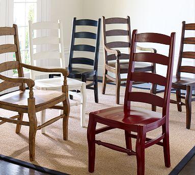 Wynn Ladderback Chair Potterybarn 19 5 W X 23 D 43 High Seat 16 Wide At Front 13 Back 18 Deep Backrest 6