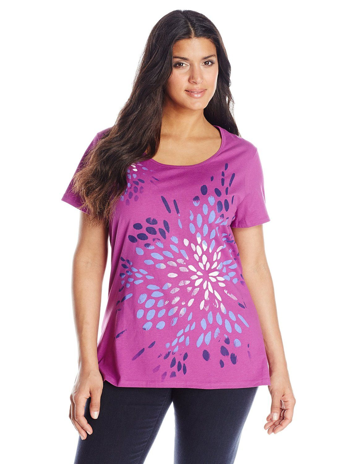 ff0060dccae Just My Size Women s Plus-Size Short Sleeve Scoop Neck Graphic Tee at Amazon  Women s Clothing store