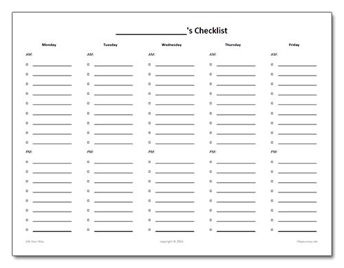 Free Homeschooling Checklist And Proofreading Marks Printable