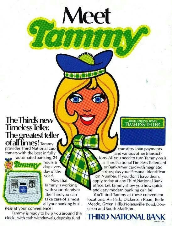 Third National Bank's Tammy The Timeless Teller, an early ATM