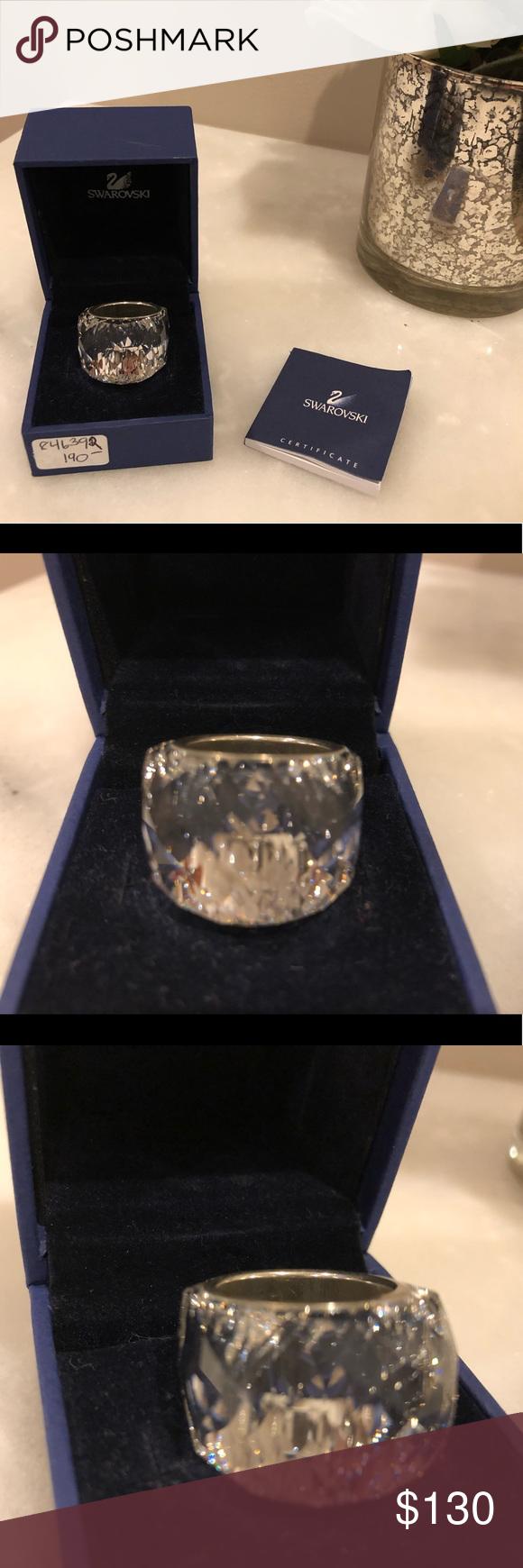 af8c27ede EUC- Swarovski Nirvana Crystal Ring Size 7 EUC- Swarovski Nirvana Crystal Ring  Size 55 (7). STUNNING statement piece. Comes in original box with  certificate ...
