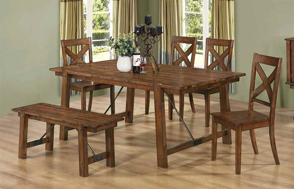Coaster Home Furnishings Country Dining Table Rustic Oak Dining