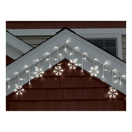 philips warm white led snowflake icicle string lights white wire