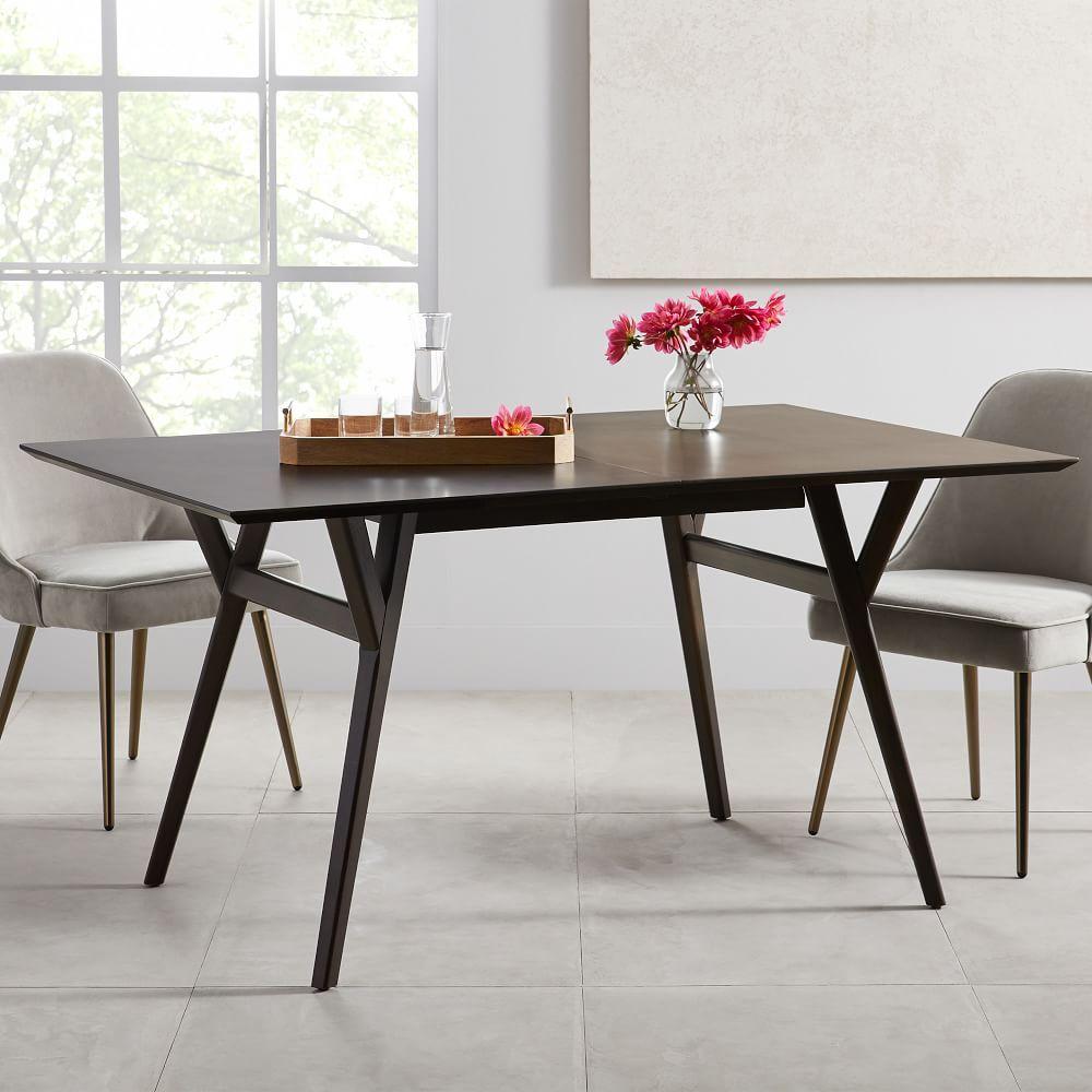Mod Upholstered Platform Bed Dining Room Table Decor Expandable