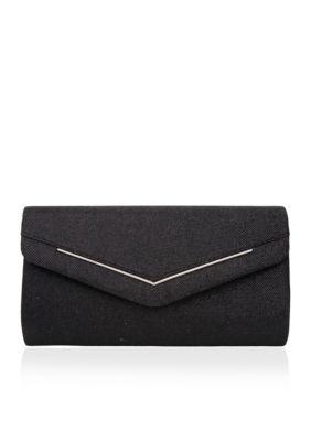 Nina Black Alectra Large Envelope Clutch